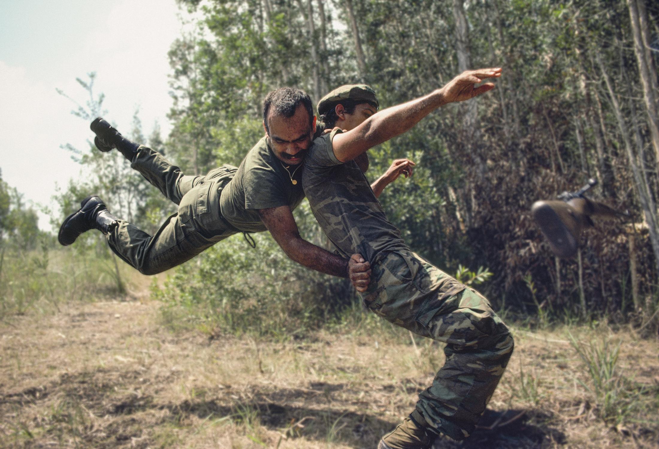 Anti-Castro commando guerrilla drill | Simulacro de guerrilla de comando anticastrista, West Miami