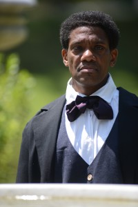 """James Forten PORTRAYED BY KEITH HENLEY - Born free in Philadelphia, James Forten began working at seven years old following the passing of his father. He attended the African School, run by Quaker abolitionist Anthony Benezet until he was nine. At 14, Forten was serving on a privateer ship during the Revolutionary War. The ship was captured by the British, but as a result of a bond of friendship he had formed, he was held a prisoner, not sold into slavery, until his release 7 months later. At which time he walked from Brooklyn to Philadelphia to rejoin his family.He apprenticed as a sail-maker, became foreman, and eventually bought the sail loft itself, and set about turning the business into one of the most successful of its kind in Philadelphia, thus making himself one of the city's wealthiest citizens. Forten used his wealth and influence to support many causes, particularly the abolition of slavery. Toward this goal he signed a petition calling for the abolition of the slave trade and modification of the Fugitive Slave Law. With Reverend Richard Allen, he worked to establish the first Convention of Color in 1817. In 1833, Forten helped form and finance the American Anti-Slavery Society. He wrote many pamphlets as """"a Man of Color"""" as well as contributing as a writer and supporter of TheLiberator, an abolitionist newspaper. He continued his efforts for equal civil rights until his passing at 75 years of age."""