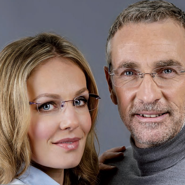 Rimless spectacles from £199 - We have a range of titanium rimless frames complete includes varifocals for £199 when purchased in-store only.Free upgrade to thinner lenses. Wider corridor varifocal. Free upgrade to Kodak Clean'n'Clear lens coatings.No hidden extras.