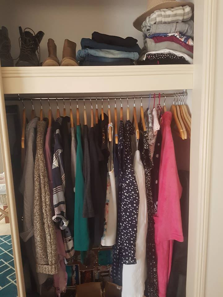 My friend Carly's closet after her first big cleanout