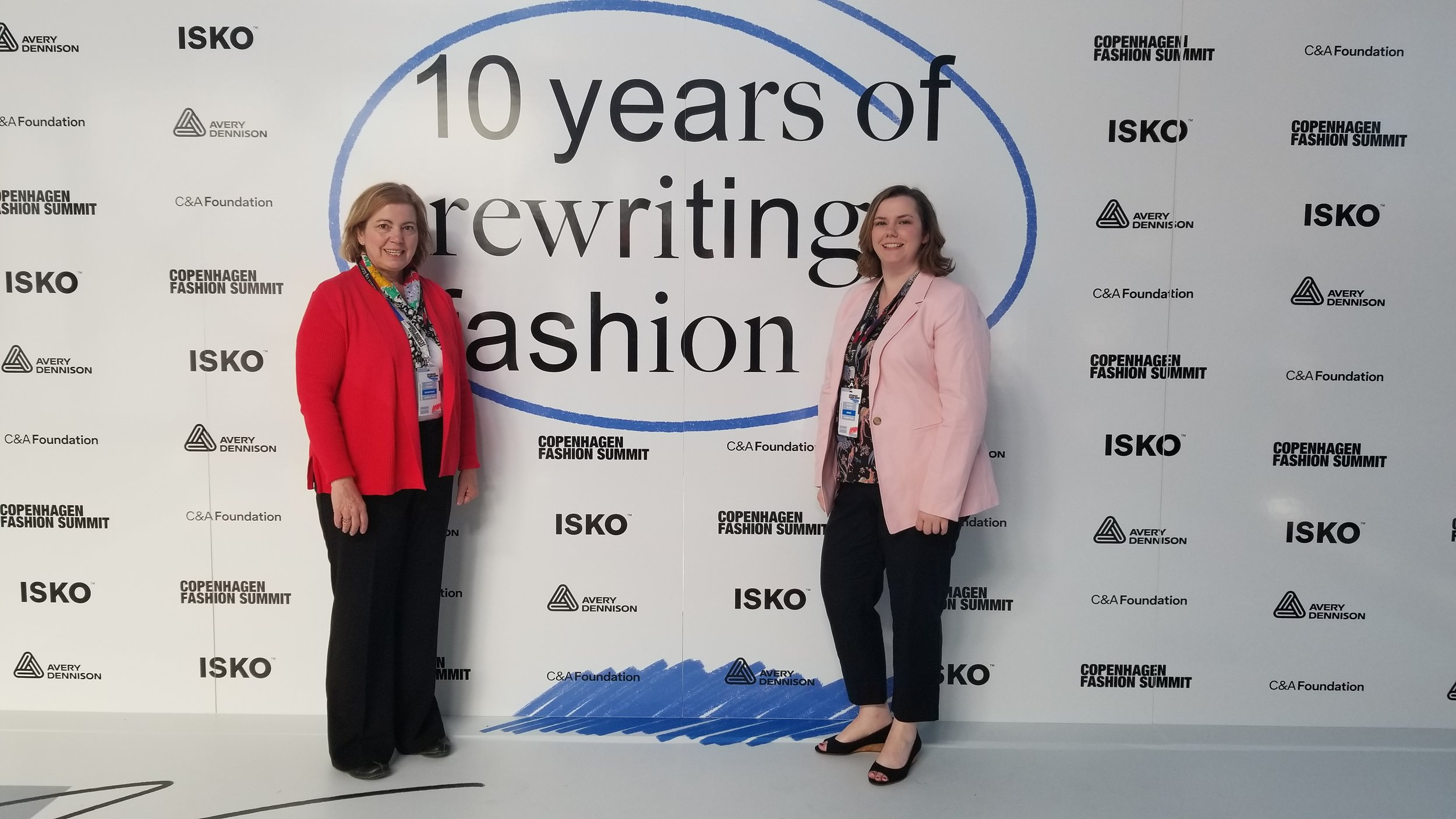 Me and my mom at the Copenhagen Fashion Summit in May