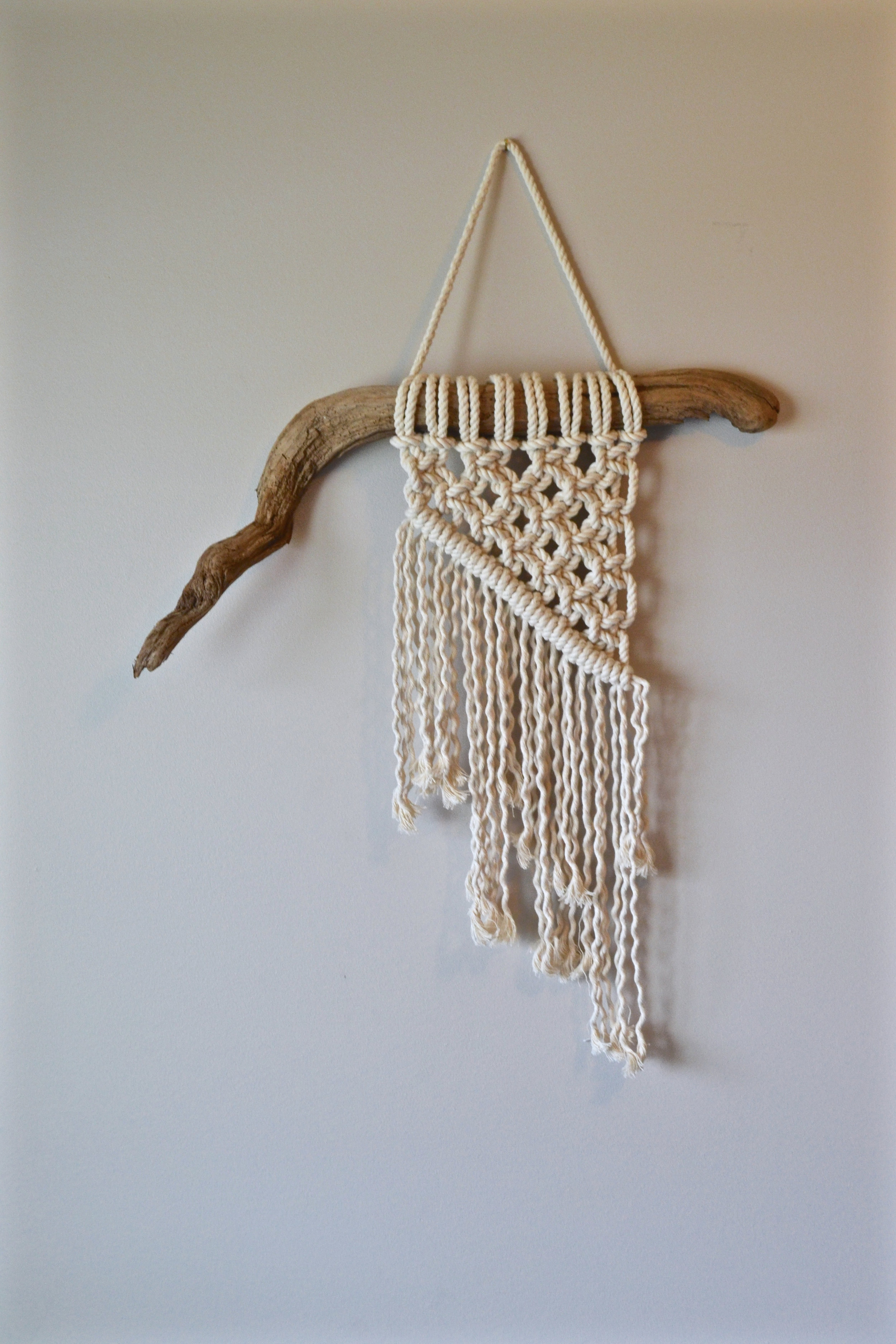 Simple little rope piece - currently resides in our spare bedroom.