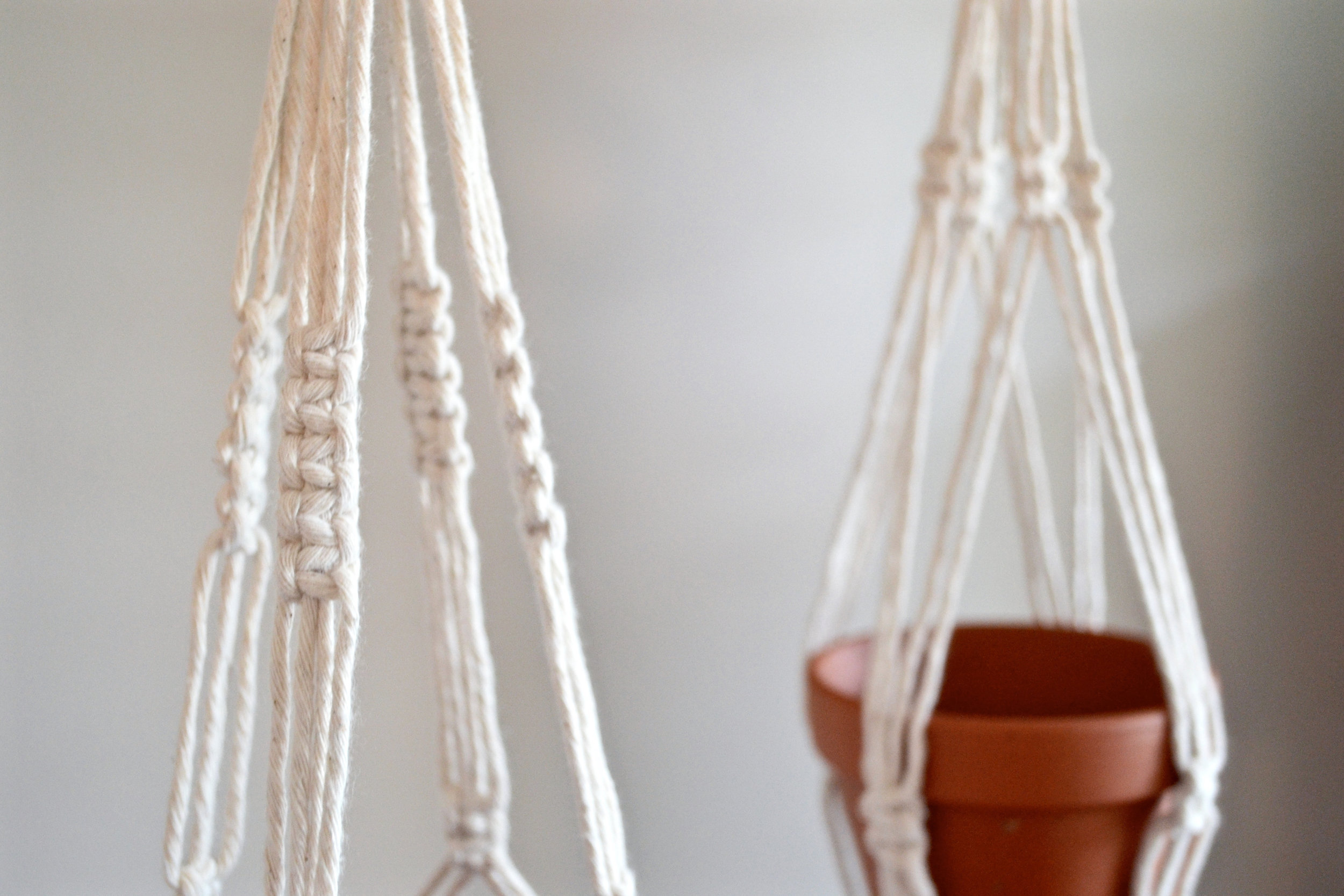Small minimalist plant hangers - 14 inches long - available for purchase, $30 each (made to order)