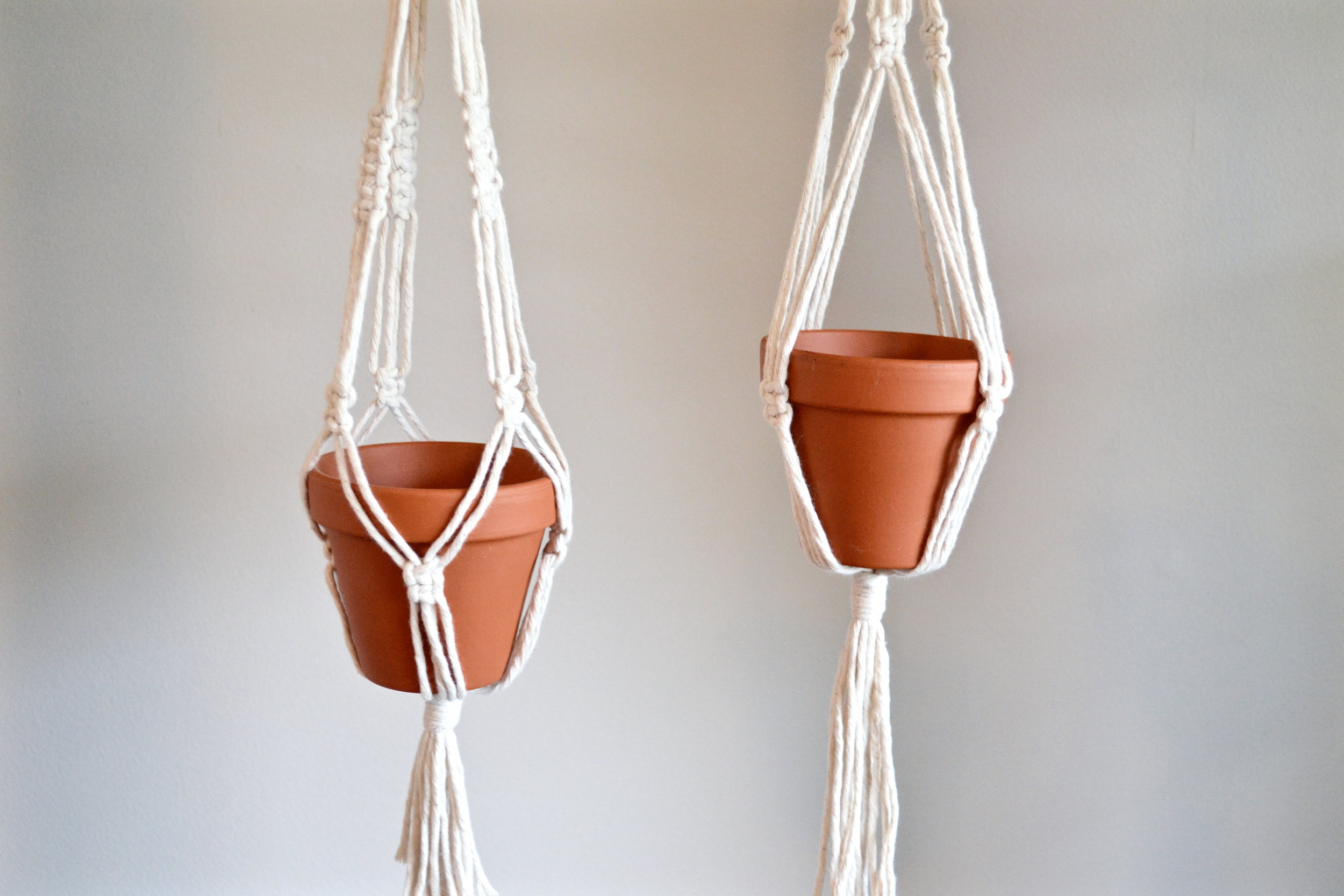 Small minimalist plant hangers - 14 inches long - available for purchase! $30 each (made to order)