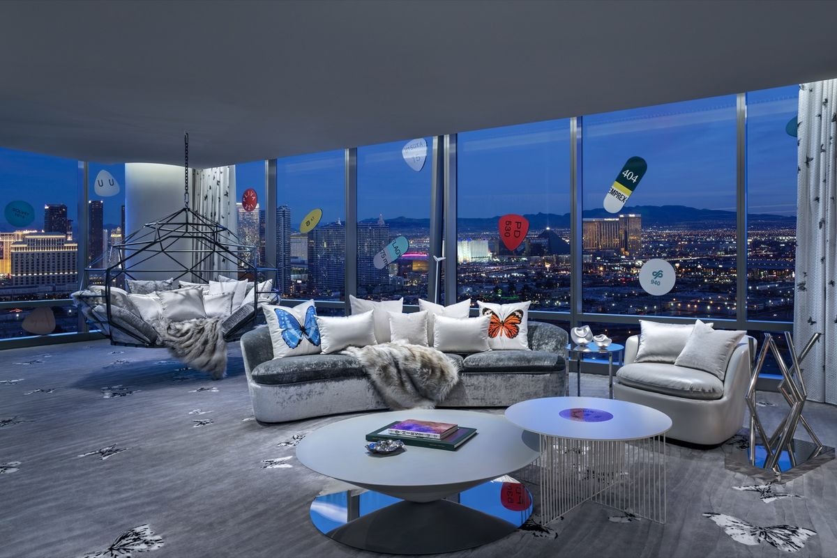 Living room in the Empathy Suite, Image courtesy of Artsy.