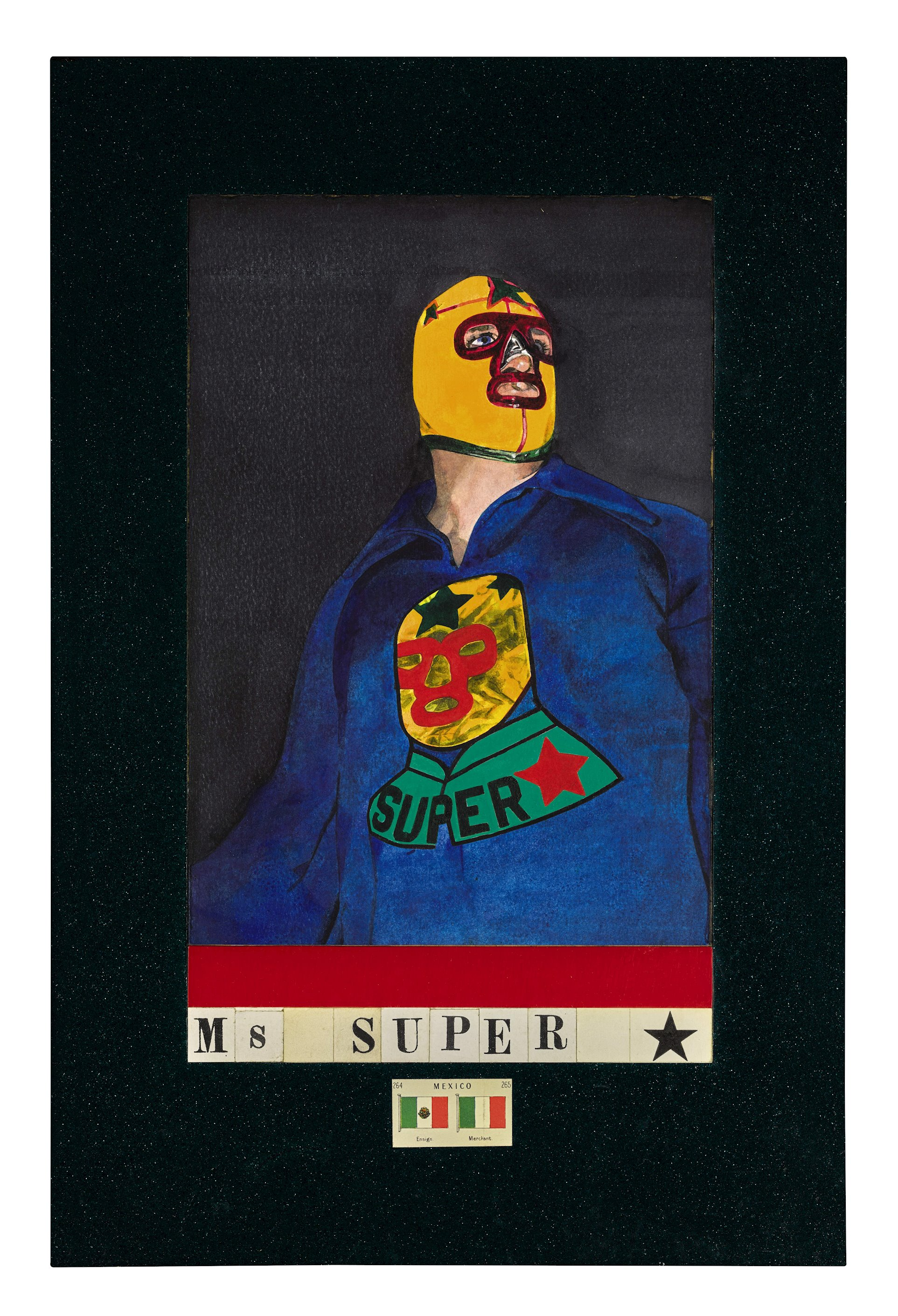 Peter Blake,  Ms Super,  1987. Courtesy Christopher Kingzett.