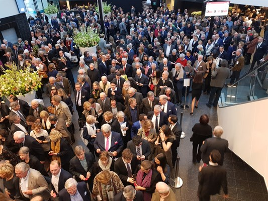 The crowd queuing to enter the preview of TEFAF Maastricht 2019. Courtesy of Antiques Trade Gazette