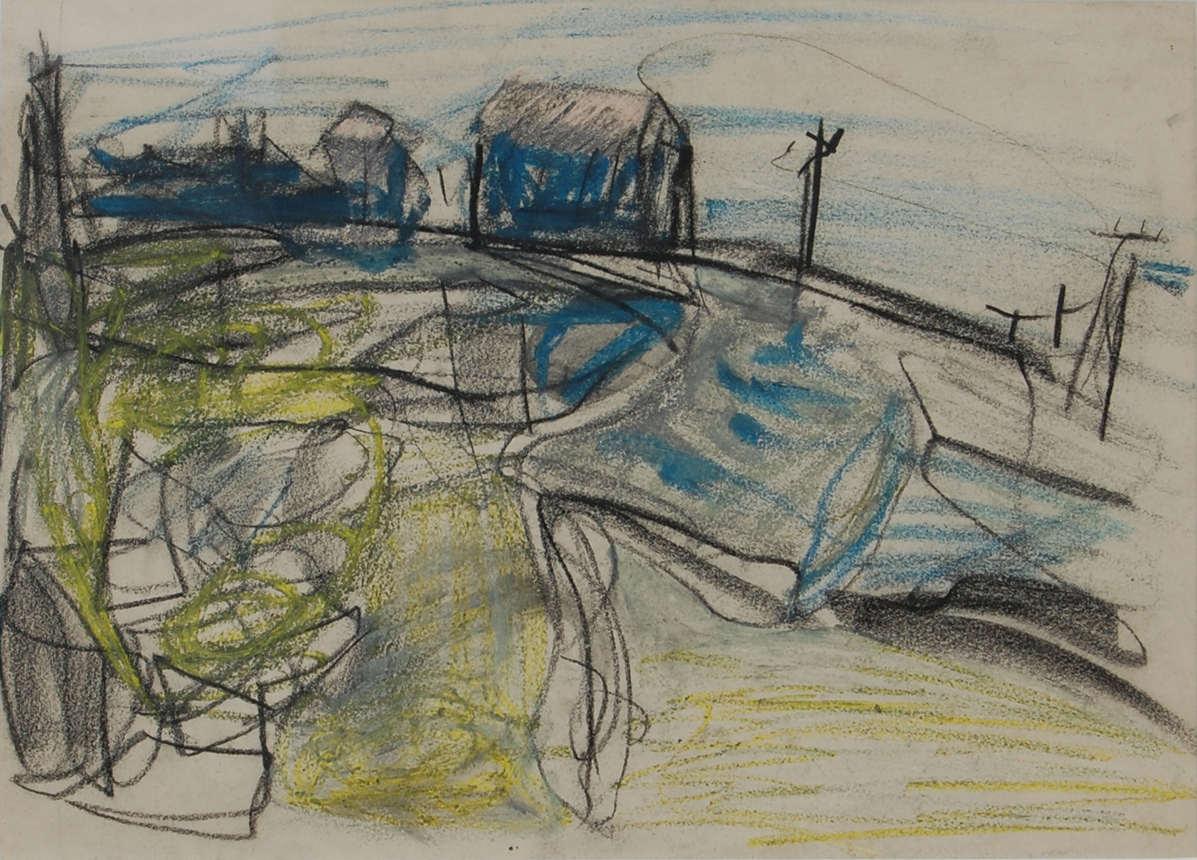 Peter Lanyon (1918 - 1964) ,  Study for St Just  (1952), Mixed media, 25.5 x 35.5cm