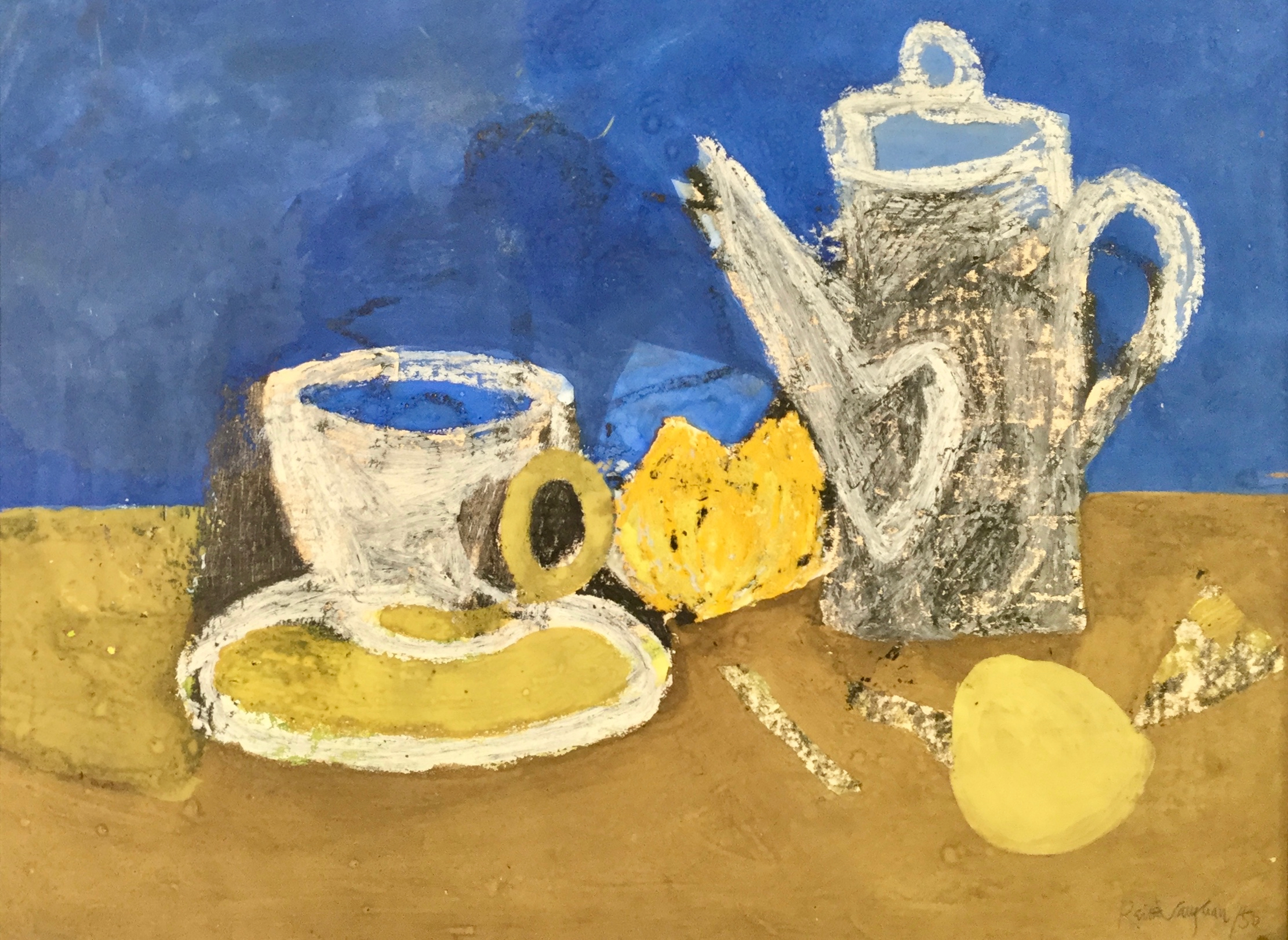 Keith Vaughan (1912-1977)  Still Life with Coffee Pot, mixed media on paper, 26 x 34.5 cm