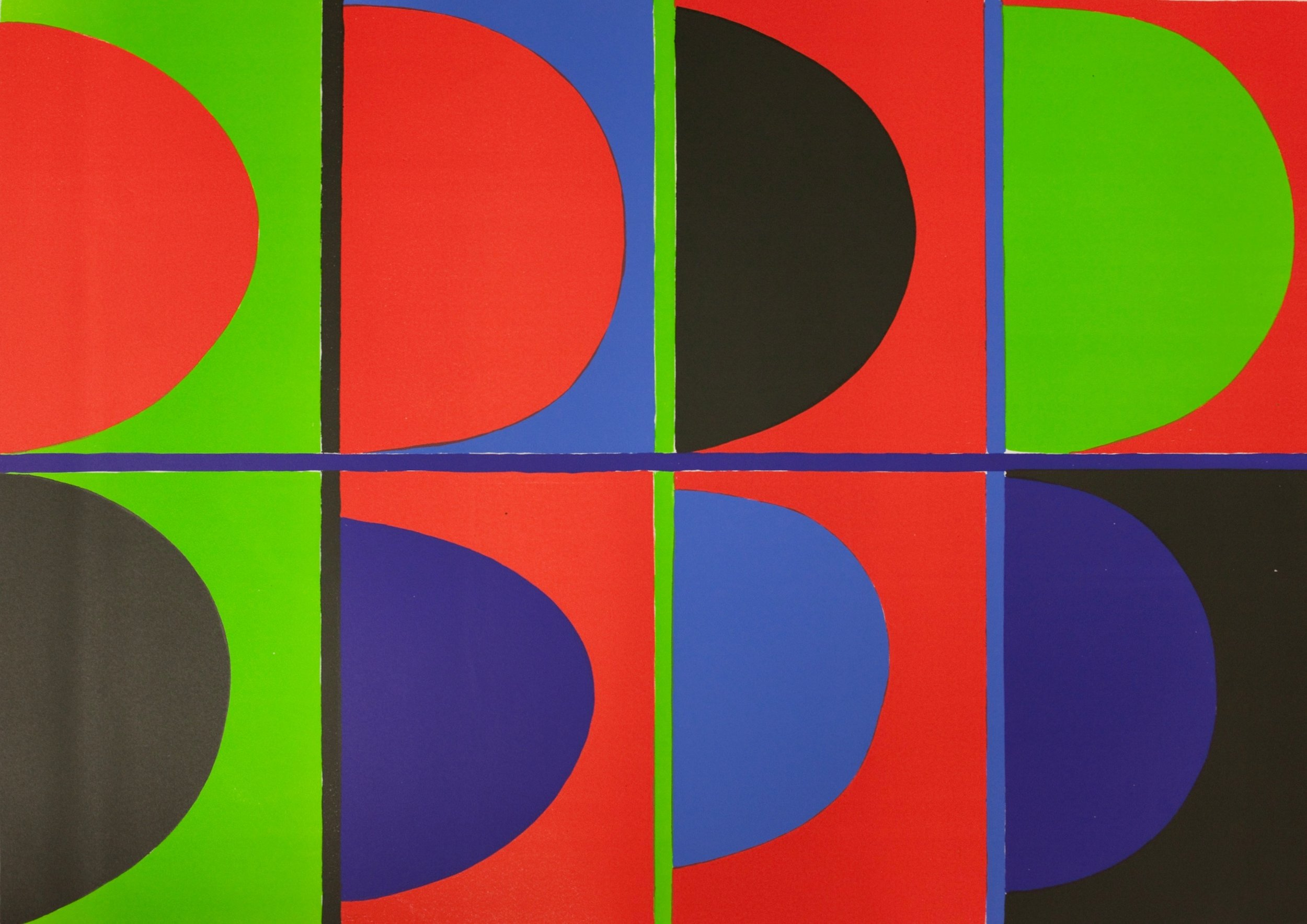 Terry Frost RA, Red, Blue, Green, 1972, courtesy Dominic Kemp Modern British Prints