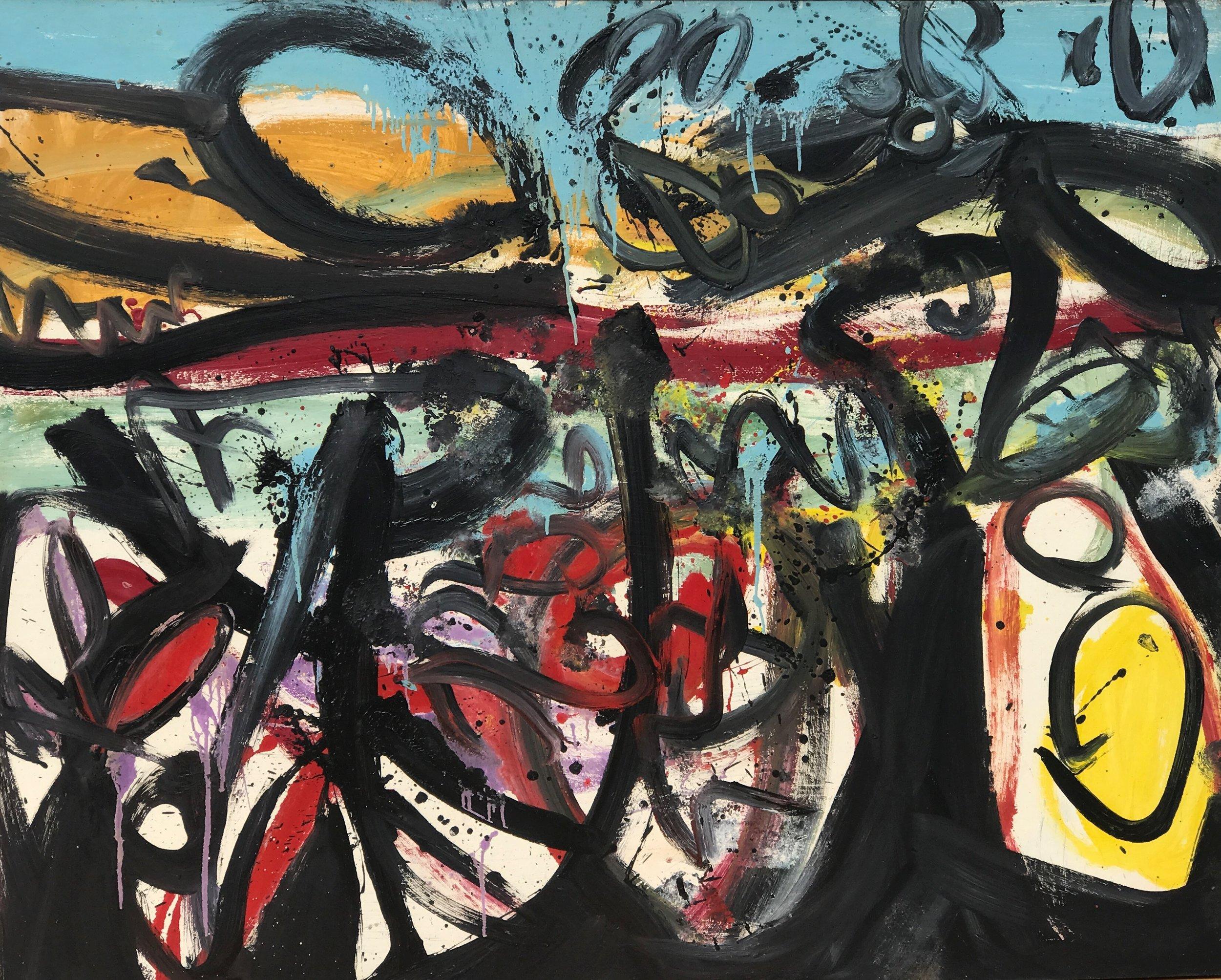 Alan Davie 1920-2014 ,  Love Life of E. Z ., 1961, Oil on board, 122 x 152.5 cm
