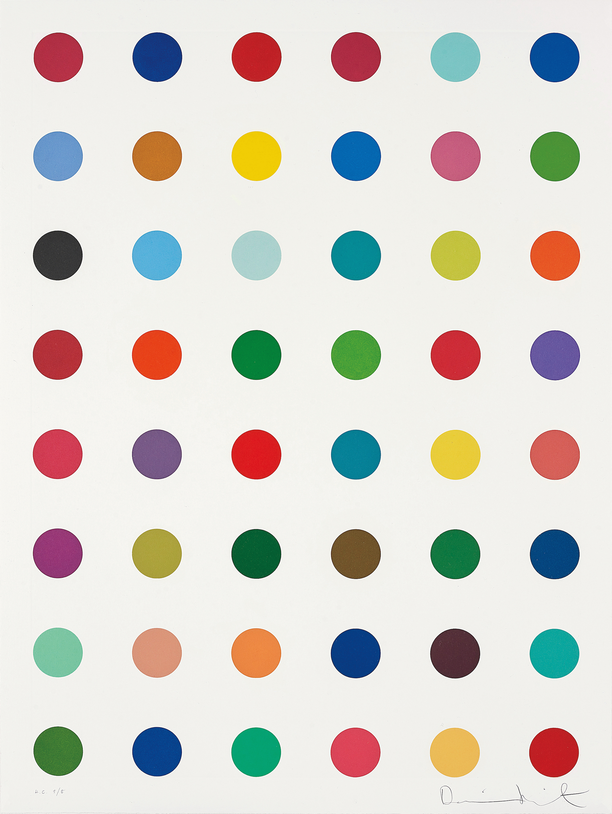 Damien Hirst ,  Untitled , 2007, Etching in colours, on Hahnemühle rag paper, 81.5 x 61.0 cm, edition of 45