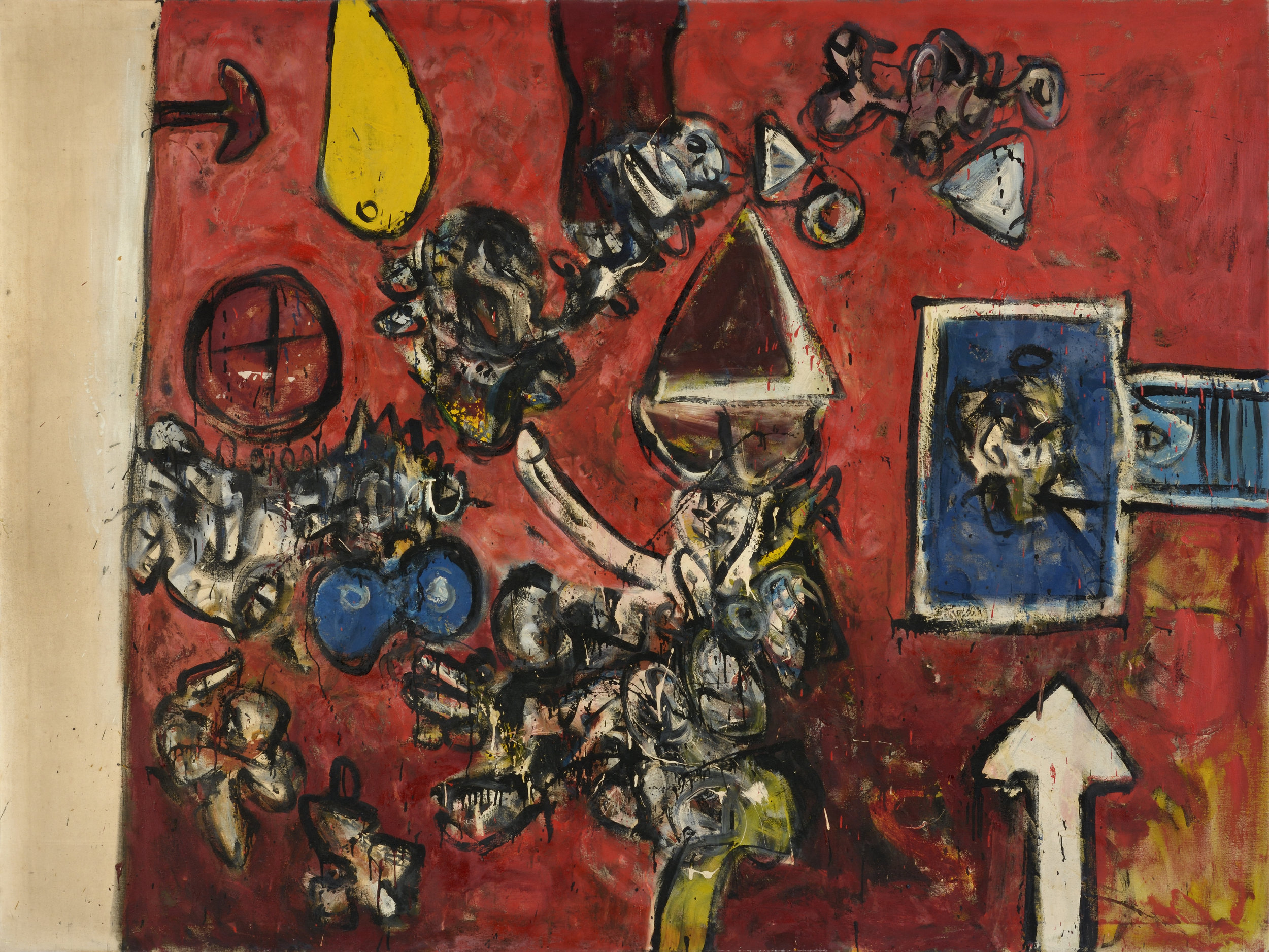 Alan Davie  , Priest of the Red Temple,  1956, oil on canvas. Courtesy of Alan Wheatley Art