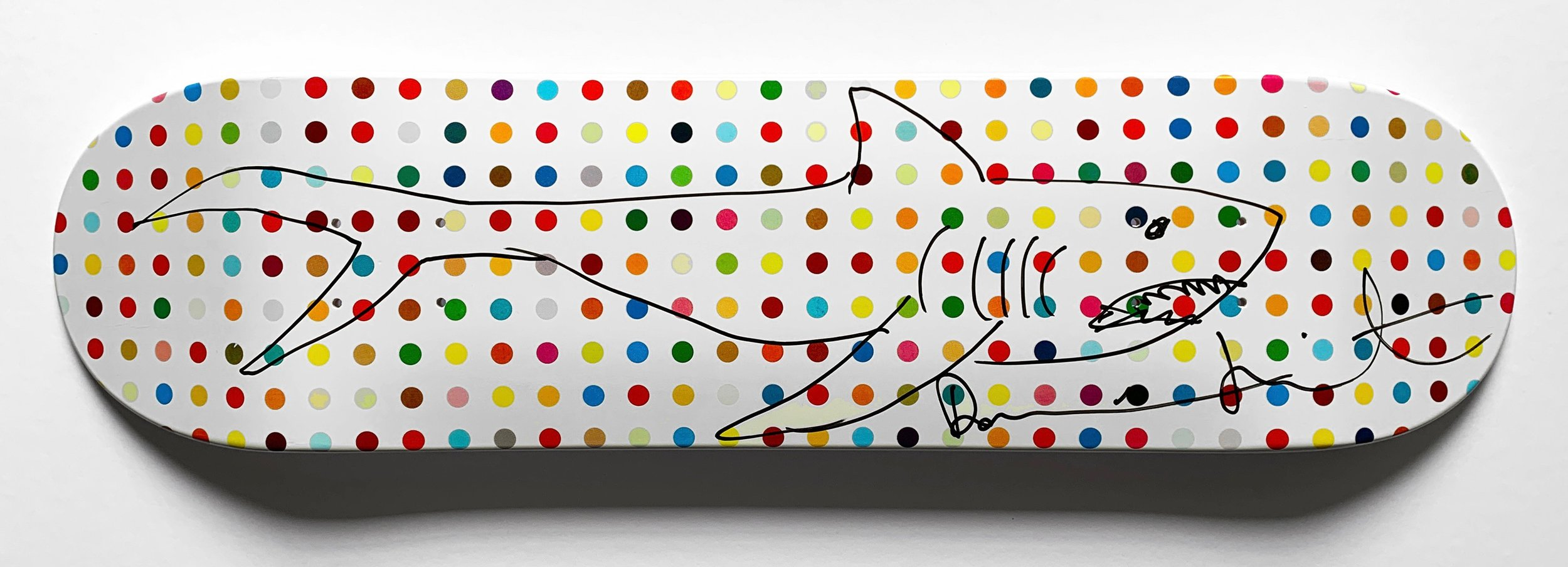 "Damien Hirst, Unique ""Shark"" Deck. Courtesy of Oliver Clatworthy Fine Art"