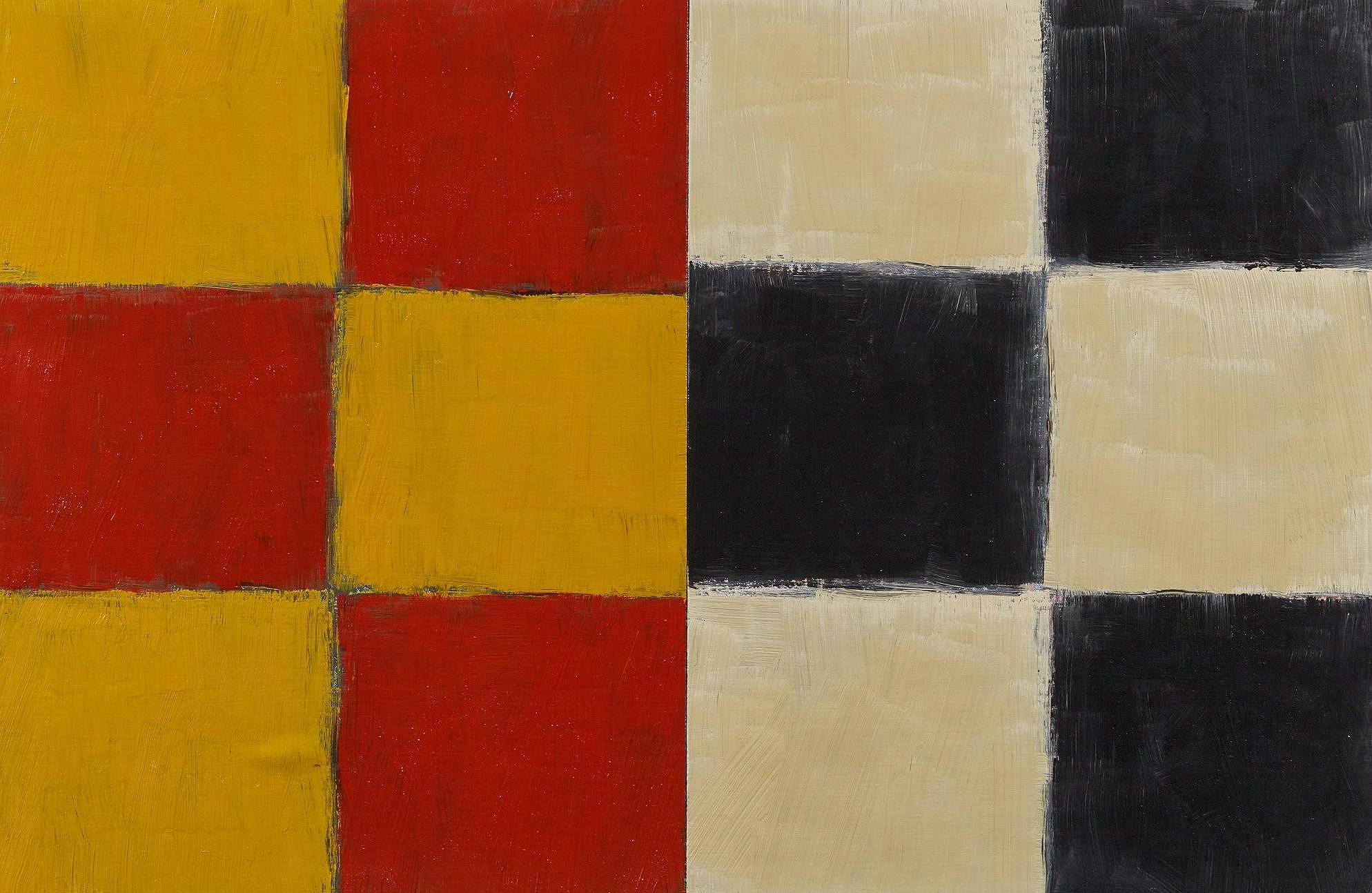 Sean Scully, Small Union Yellow, 1997. Courtesy Tanya Baxter Contemporary.