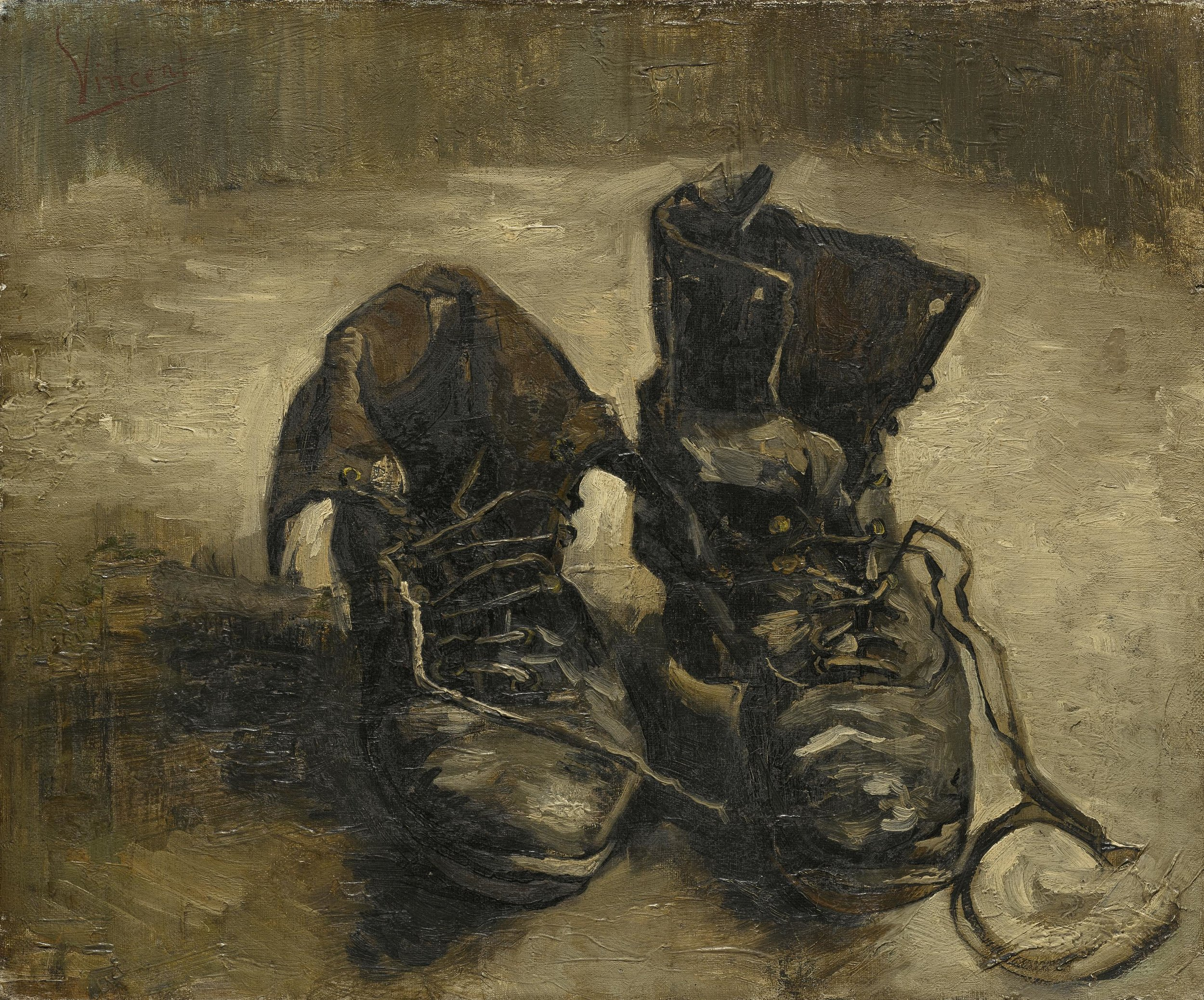 """Vincent van Gogh: Shoes,"" 1886"