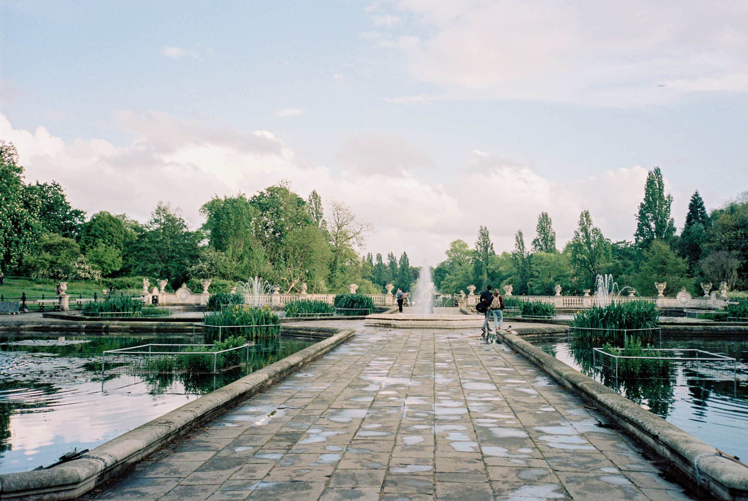 Olympus Stylus Epic + Portra 160. Spot the small plane in the upper-right corner?