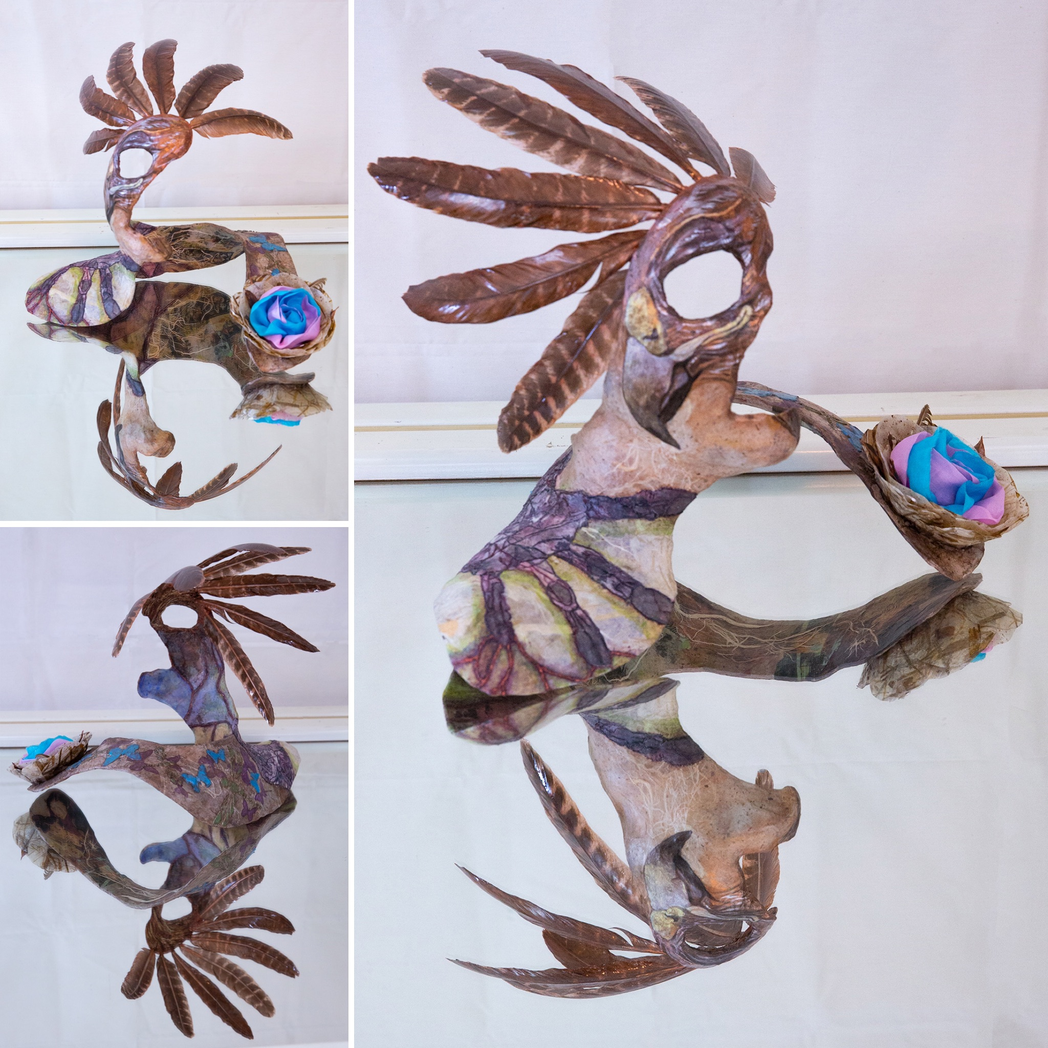 """KIM - The Shaman - """"When I look at my sculpture I am reminded of how far I have come in my life in overcoming my traumas. Jessi created a piece that tells my story, good and bad, in such a way that I can reflect on my past with a sense of peace and gratitude.""""""""Jessi is a treasure. From start to finish she gives you the love and support you need through the process. She has one of the purest healer's hearts I have ever had the pleasure to work with. Her approach through the BIO process combines the healing aspects of Reiki and diving deep into your story to help you overcome the traumas that cause you to have a negative body image and externalize it through a beautiful piece of art that reflects the healing that occurs to that part of the body as you release the pain you've held there."""""""