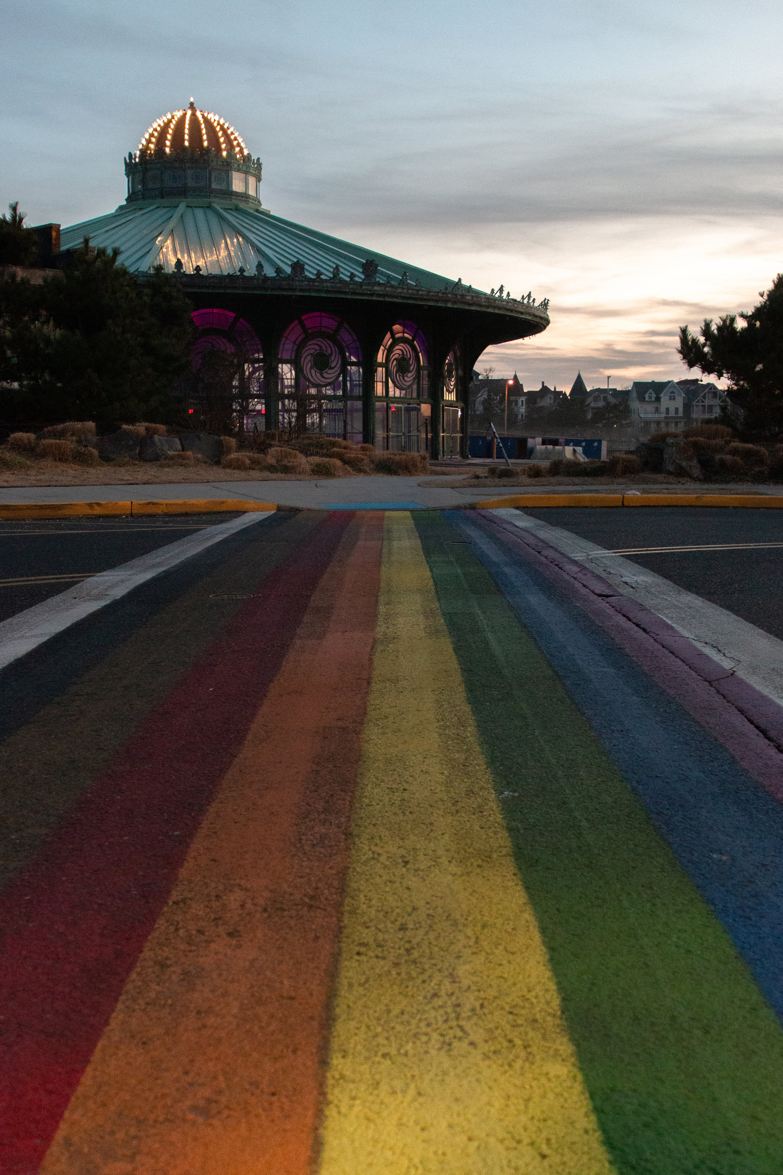 rainbow crosswalk in Asbury Park, New Jersey. Photo by Kayleigh Ann Archbold.