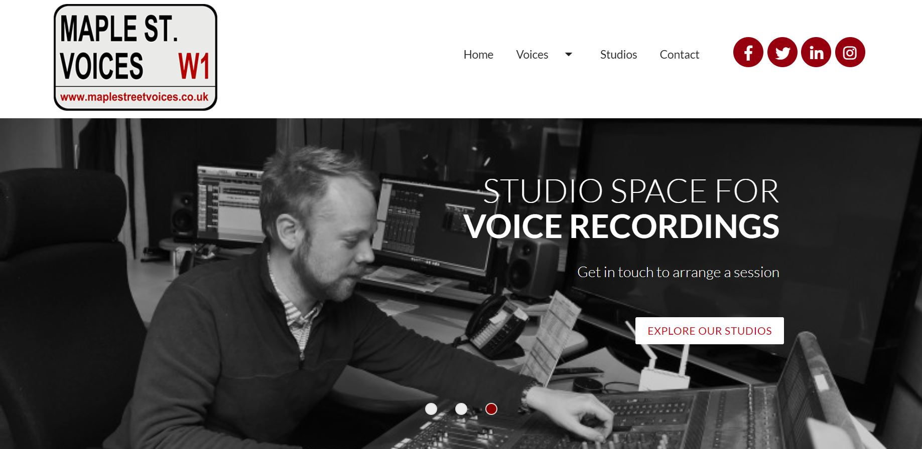 Studio sessions come with free, incredibly handsome audio engineers