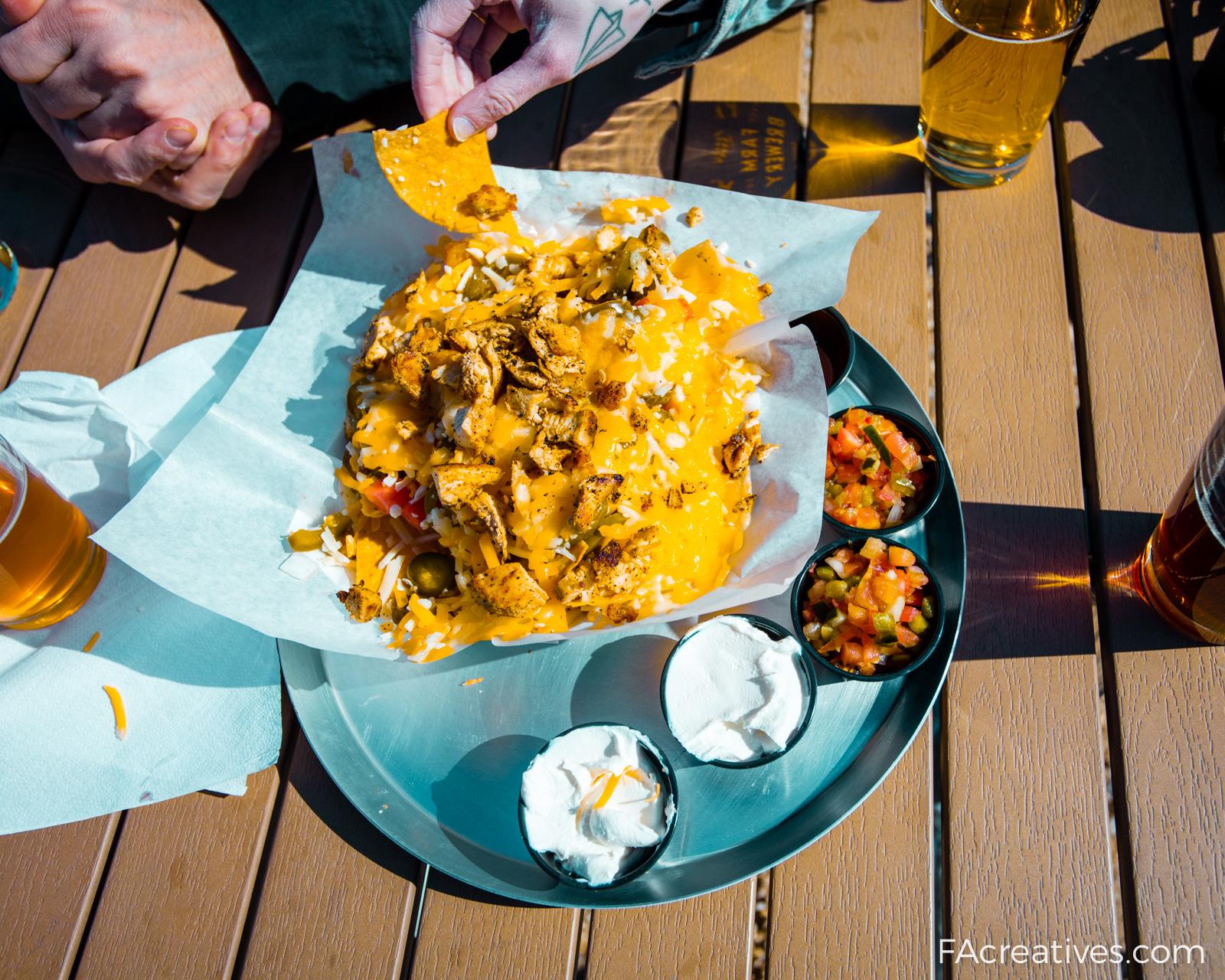 Their nachos were no joke.