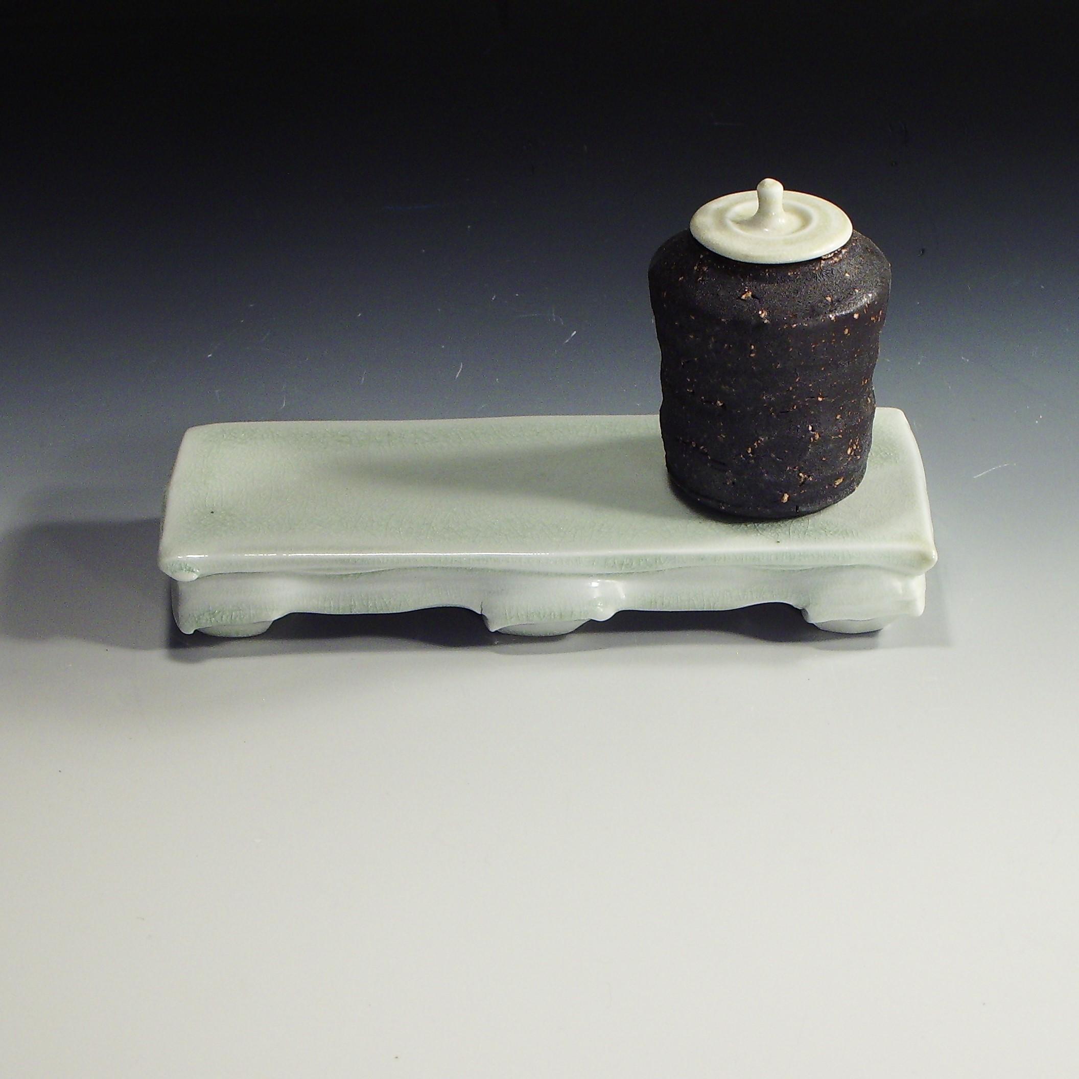 8. black chai-ire on white stand (2).JPG