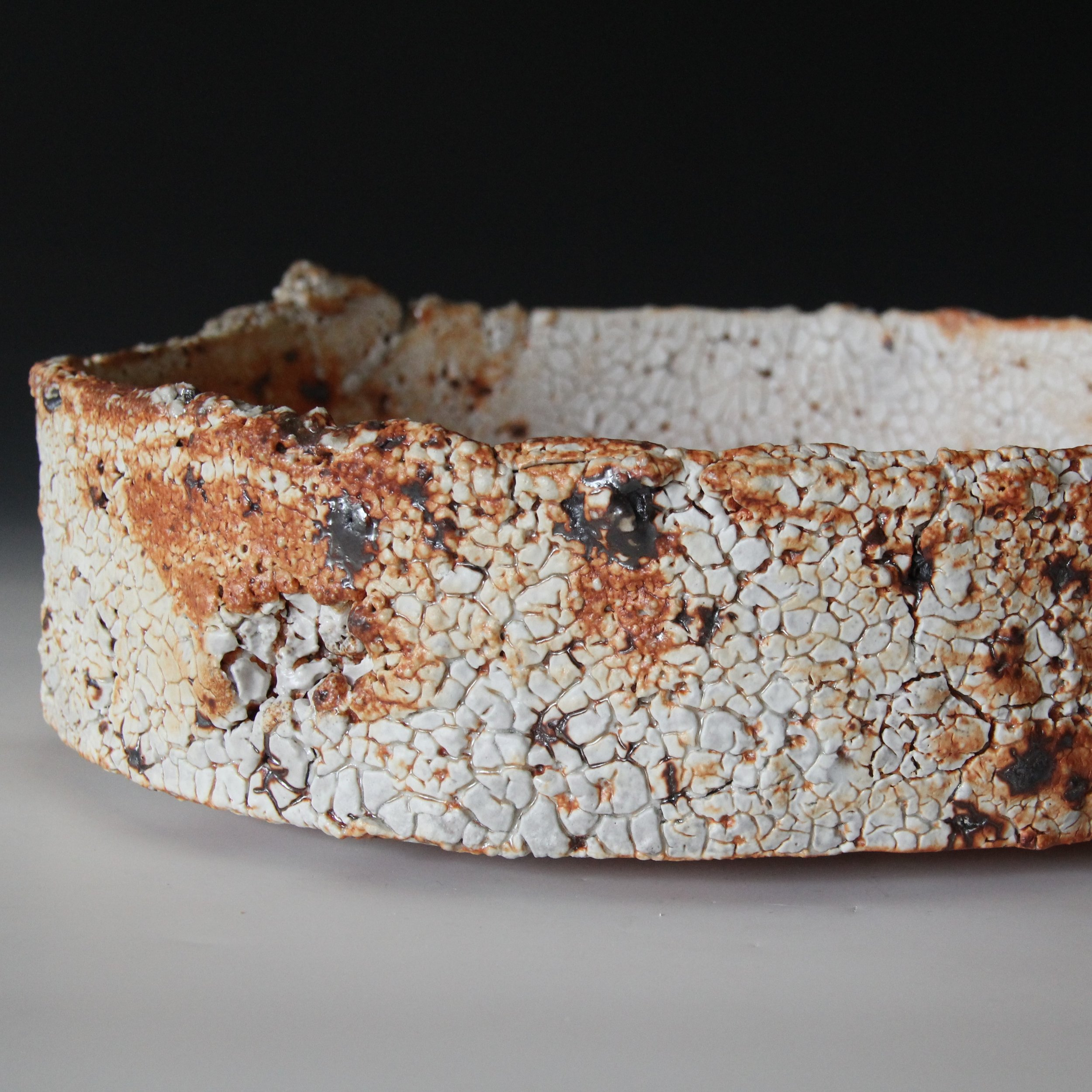 1f. Sandy Lockwood - 'Subduction Series' -  bowl - woodfired saltglazed stoneware- 33 x 9.5cm IMG_0317 (2).JPG