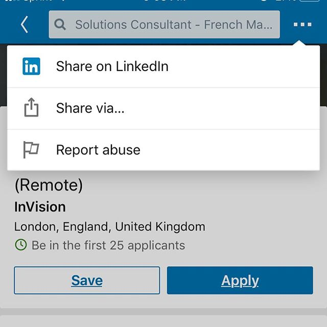 The way Linkedin uses the three dots to expose extra actions is inconsistent across their entire app! Some open fly outs, some open drawers, some take you to a different screen; this makes it extremely difficult for users to build a accurate expectations our actions and feedback. #ux #uxdesign #design #baddesign #interactiondesign #userexperiencedesign #ui