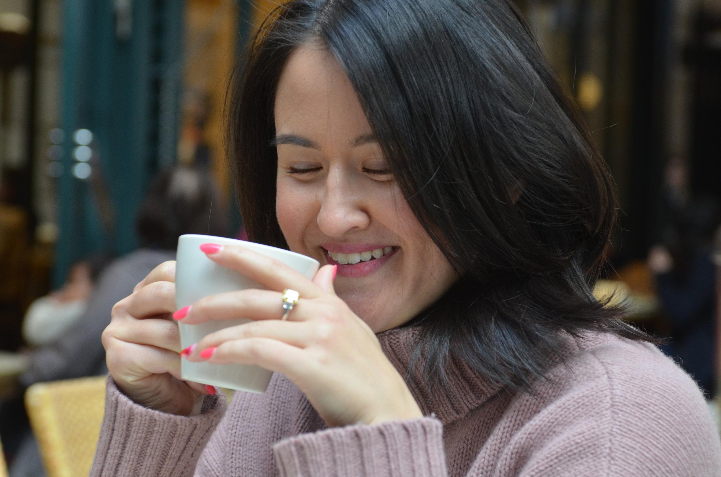 Katheryn Gronauer tea Corporate Wellness Tokyo
