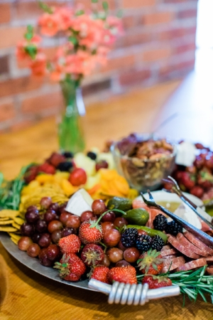Savory platter prepared by Katie Baas of Lucky Star Catering. Photo credit:   Lauren Mazzotta Photography