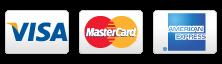 We accept Visa, MasterCard and Amex.
