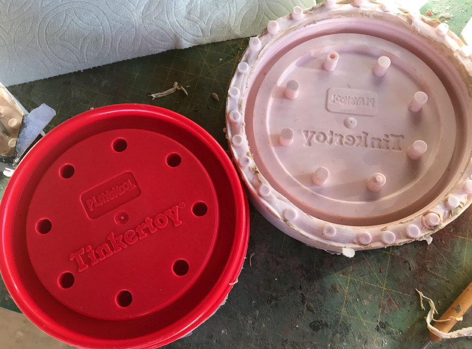 I also molded the lid, intending to slush cast copies.