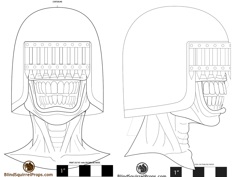 I drew out a plan on my helmet template.