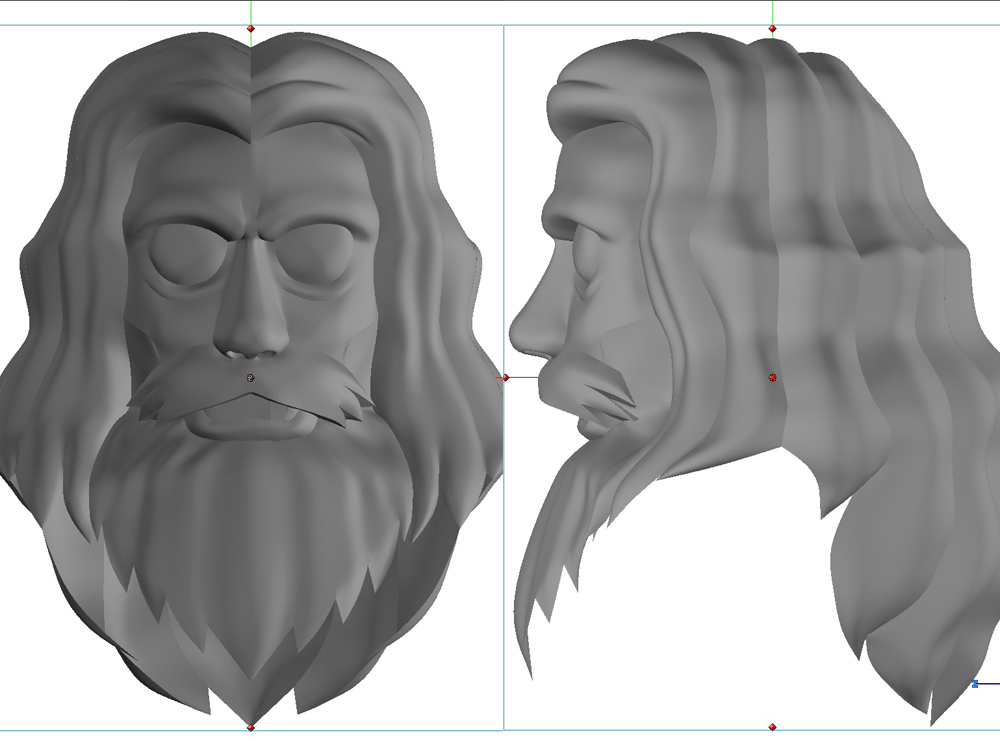 Final head and hair sculpt.