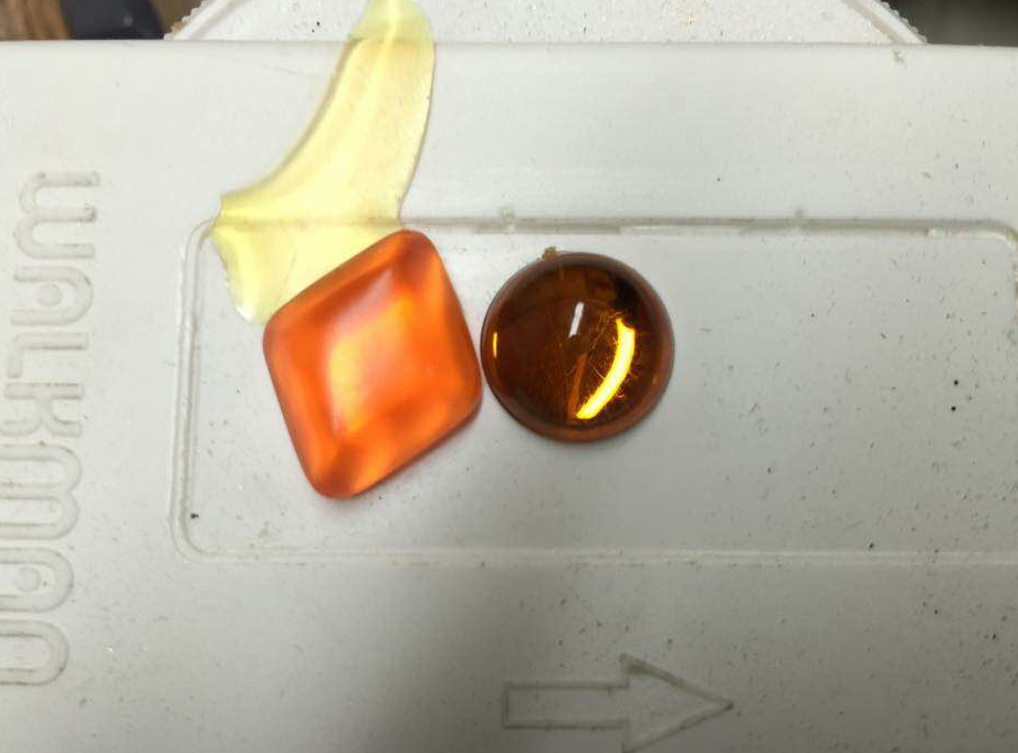 I cast some clear gems from the molds.