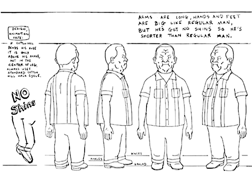 I found the original model sheets for him online. You can't ask for better reference than that.