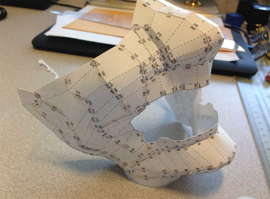 To double-check the measurements, I printed out a paper model.
