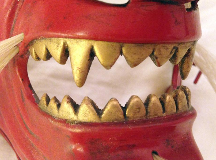 Detail of the teeth.