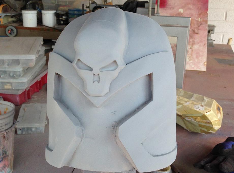 Final helmet with emblem.
