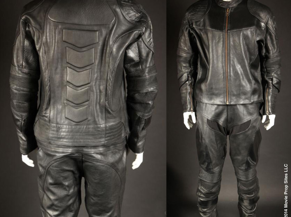 The jacket, pants and vest were part of a custom run initiated by Kurt Struss for the Judge Dredd Costume Group on Facebook. Based on a screen-used costume, it was reverse-engineered in Pakistan to produce an accurate replica suit.