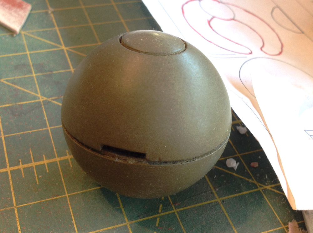 The grenade was painted olive drab.
