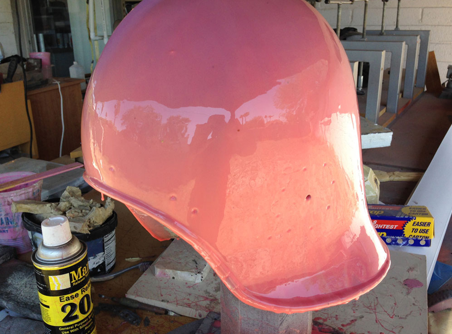 I brushed on a mold using Smooth-On Stroke. A Plasti-Paste II mother mold, helps it keep its shape.