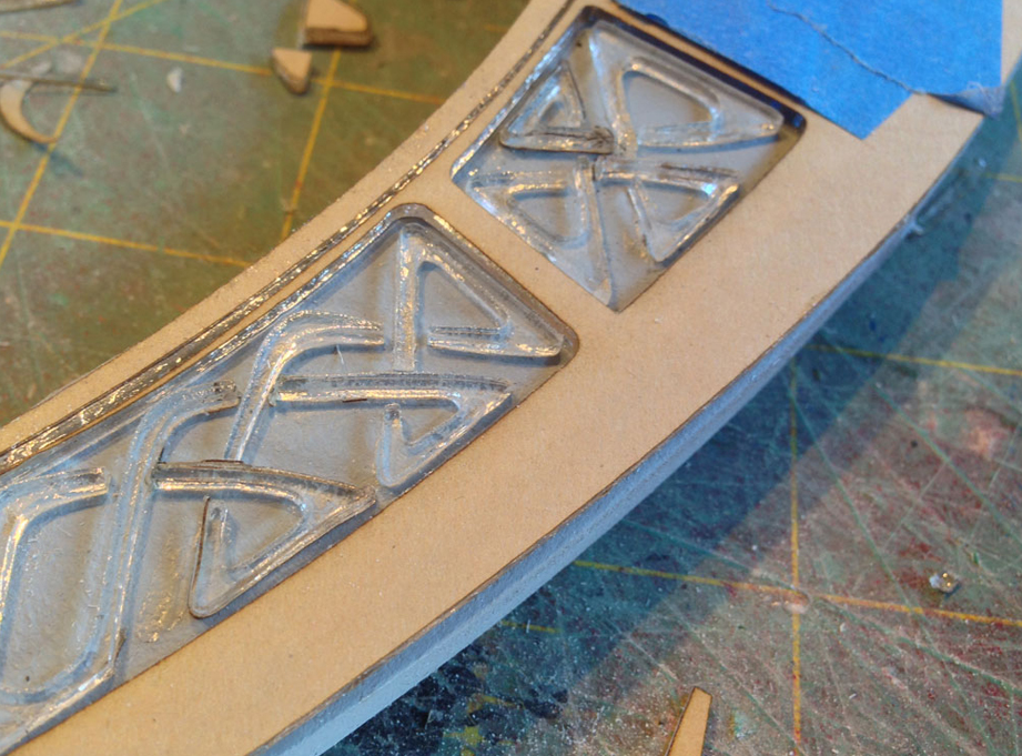 """I used CA (""""superglue"""") glue to glue the acrylic to each side of the blade."""