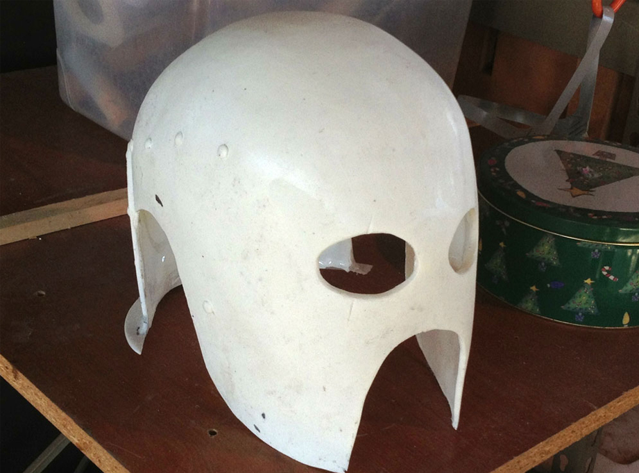 I made a mold of my Berserker helmet and slush cast a resin copy.