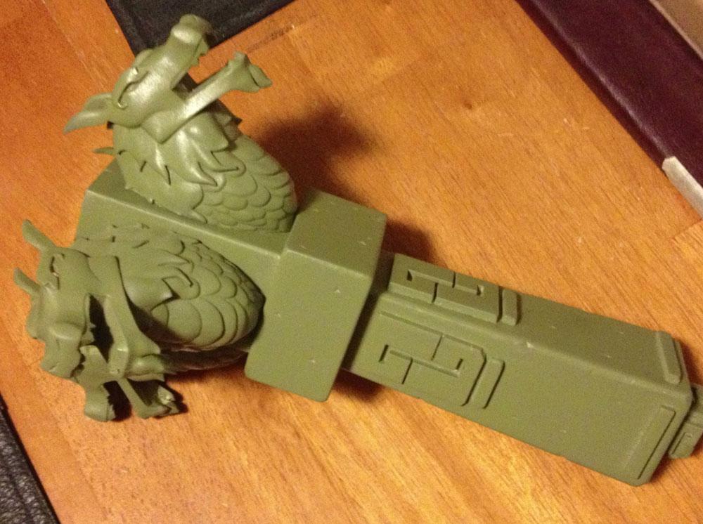 The final assembled prop.