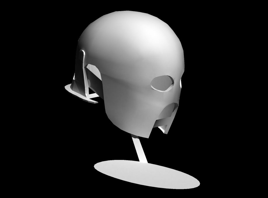 I had some free time to build something for myself so I decided to make the Uruk-Hai Berserker helmet from The Two Towers. I started by creating a 3D model in Strata3D.