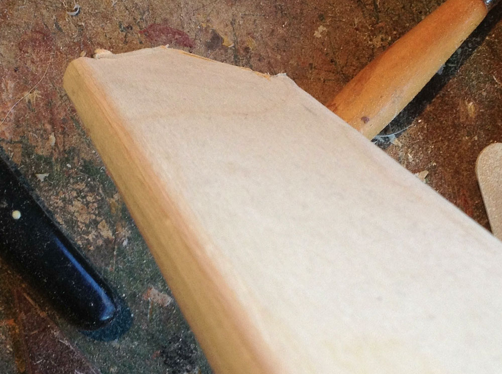 """The scabbard """"box"""" was glued shut and then the edge was rounded with a router."""