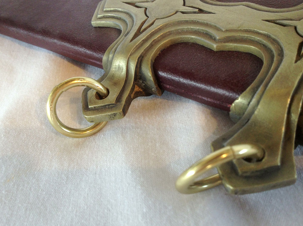 The last detail added were some brass rings for the belt straps (which I hope to make as well).