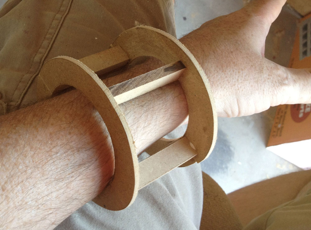 My math worked out and the prototype was, indeed, wearable.