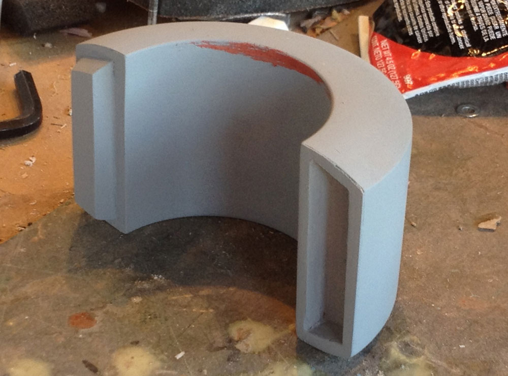 A coat of primer and the body of the cuff is done.